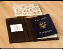 Кожаная обложка на паспорт Орех фото 1