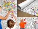 Обои - раскраски Елка с наклейками Тачки 60х150 фото 3