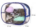 Прозрачная косметичка для бассейна/сауны/путешествий (синяя), купить, отзывы, цены, фото 1