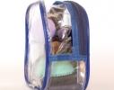Прозрачная косметичка для бассейна/сауны/путешествий (синяя) фото 2