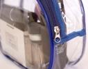 Прозрачная косметичка для бассейна/сауны/путешествий (синяя) фото 3