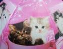 Детский зонтик Котики розовый фото 3