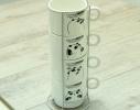 Набор чайный на 4 персоны на подставке Панда фото