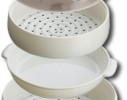 Двухуровневая пароварка для СВЧ Microwave Steamer фото 3
