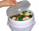 Двухуровневая пароварка для СВЧ Microwave Steamer фото 2