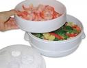 Двухуровневая пароварка для СВЧ Microwave Steamer фото