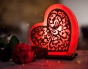 Соляная лампа Сердце лепестки фото