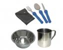 Набор посуды туристический 5в1 фото
