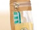 Прозрачная косметичка для путешествий / самолета бежевая, купить, цена, отзывы, фото 4