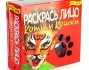 Детский набор для творчества Раскрась лицо. Коты и кошки фото, купить, цена, отзывы