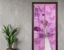 Дверная антимоскитная шторка на магнитах Розовый Ажур фото 3