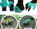 Садовые перчатки с пластиковыми наконечниками Garden gloves фото 4