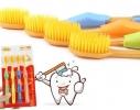 Бамбуковые зубные щетки Нано Желтые 4шт. фото