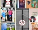 Дверная антимоскитная шторка на магнитах Розовый Ажур фото 1