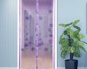 Дверная антимоскитная шторка на магнитах Фиолетовый Ажур фото