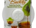 Силиконовая крышка с отжимом Tea Bag Buddy, Белая фото 6