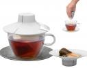 Силиконовая крышка с отжимом Tea Bag Buddy, Белая фото 2