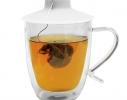 Силиконовая крышка с отжимом Tea Bag Buddy, Белая фото 3