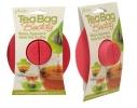 Силиконовая крышка с отжимом Tea Bag Buddy, Малиновая фото 2