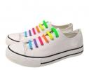 Детские прямые cиликоновые АнтиШнурки для кроссовок и кед, 12шт. (длина: 38мм) фото