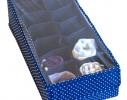 Органайзер для шарфиков/колгот с квадратными ячейками с крышкой Звездное небо фото 1