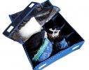 Комбо органайзер для белья с крышкой Звездное небо фото