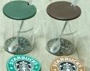 Кружка стеклянная с крышкой и подставкой Starbucks фото 1