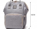 Сумка рюкзак для мамы Momy Bag Серая фото 2