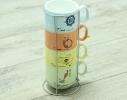 Набор чайный на 4 персоны на подставке Винтаж фото