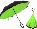 Ветрозащитный зонт обратного сложения UP-brella однотонный фото 3