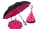 Ветрозащитный зонт обратного сложения UP-brella однотонный фото 2