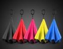 Ветрозащитный зонт обратного сложения UP-brella однотонный фото 1