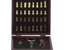 Винный набор с шахматами средний, 18 см фото