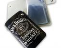 Кожаная кредитница на кнопке Jack Daniel's 20 карт фото 1