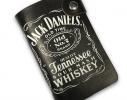 Кожаная кредитница на кнопке Jack Daniel's 20 карт фото 2