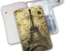 Кожаная кредитница на кнопке Париж фото 2