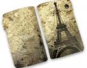 Кожаная кредитница на кнопке Париж фото 1