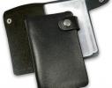 Кожаная кредитница на кнопке черная 20 карт фото 1