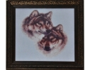 Набор для вышивки картины Волчья Верность 41х39см фото