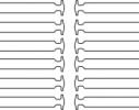 Детские прямые cиликоновые АнтиШнурки для кроссовок и кед, 12шт. (длина: 38мм) фото 5