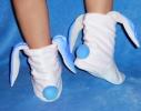 Тапочки с голубыми ушками Белые фото 1