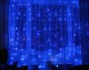 Гирлянда Штора Led 360 голубая фото 7