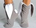 Тапочки Зайчики серые с белыми ушами фото 1