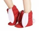 Тапочки Зайчики красные с белыми ушами фото 2
