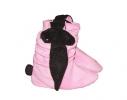 Тапочки Зайчики розовые с черными ушами фото 1
