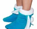 Тапочки Зайчики голубые с белыми ушами фото 1