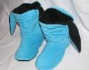 Тапочки Зайчики голубые с черными ушами фото 1