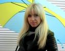 Зонт трость прямой Желто - Голубой фото 2