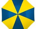 Зонт трость крючек Желто - Голубой фото 1