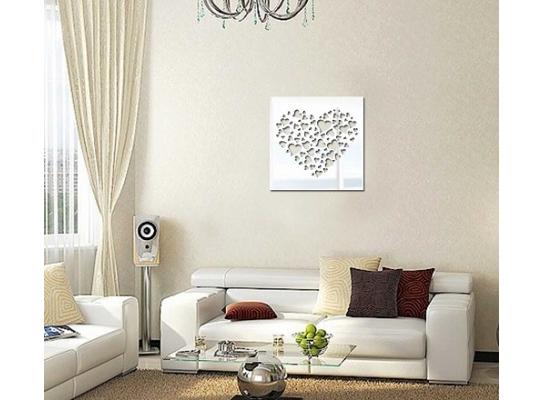 Декоративное акриловое зеркало Сердце фото